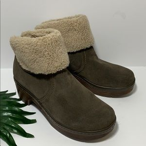 Clarks Preslet Pierce Dark Taupe Suede Boots 6